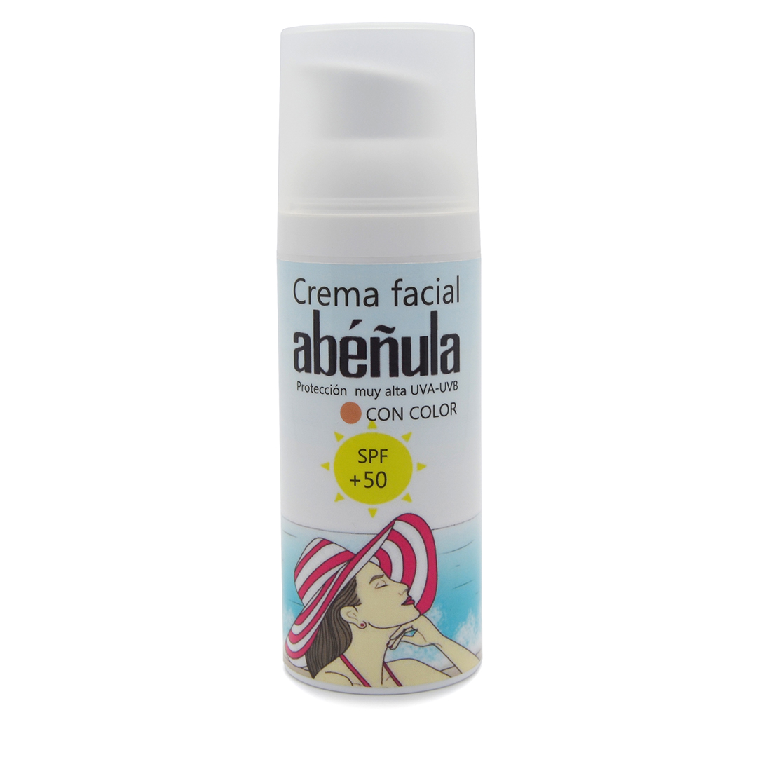 Crema de protección facial con color Abéñula